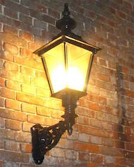 Victorian wall lanterns made from 100% cast iron